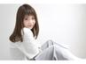 美肌カラー+小顔カット  ¥8.640