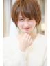 【潤い美髪ケア】小顔カット+プラチナ艶カラー+超音波3STEPtr¥7800